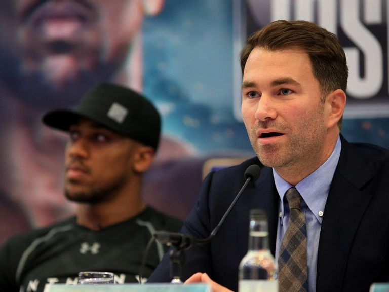 Eddie Hearn confirms Anthony Joshua will fight in December