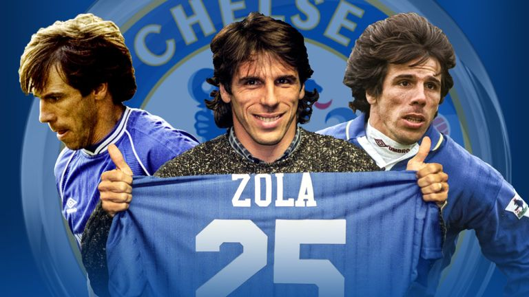 Gianfranco Zola joined Chelsea in 1996 and became a club legend