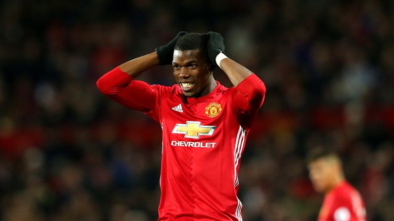 Paul Pogba has hit the woodwork seven times this season