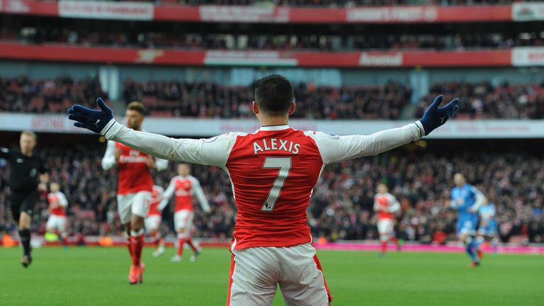 Alexis Sanchez rose 19 places to No 5 in the Power Rankings this week