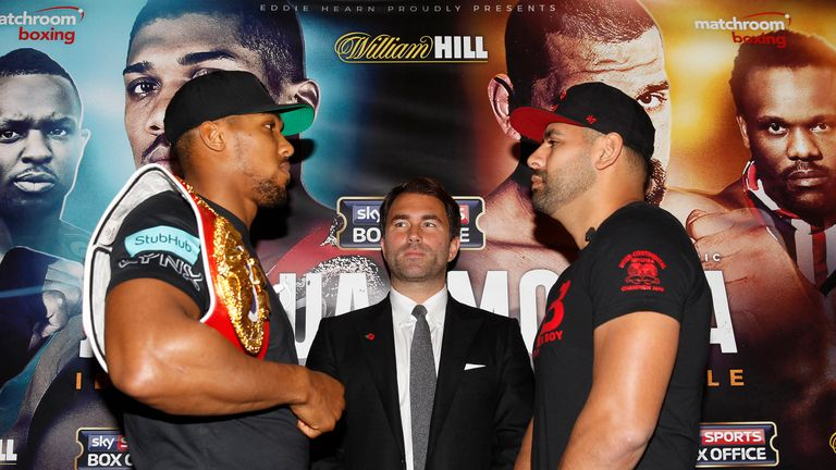 Anthony Joshua will face Eric Molina in Manchester on December 10