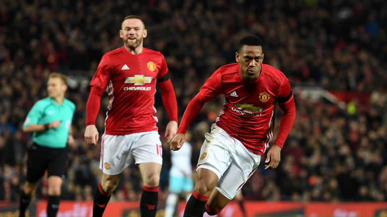Anthony Martial is one of the players favoured over Depay