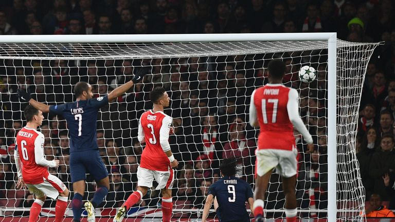 Edison Cavani gave PSG the lead early on from close range
