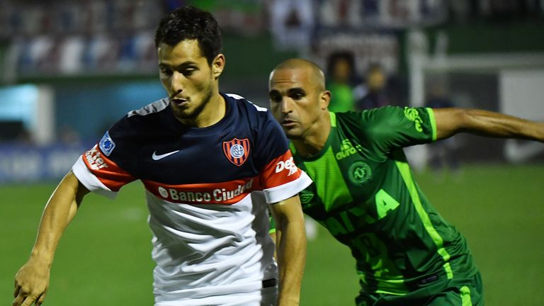 Chapecoense beat Argentine side San Lorenzo on away goals in the Copa Sudamerica semi-finals