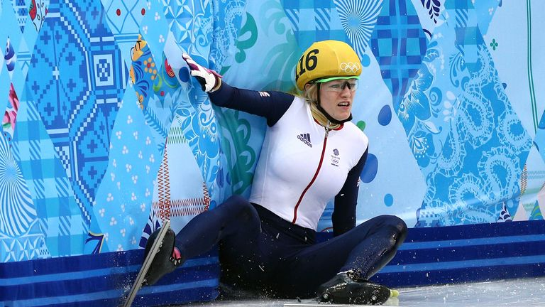 Elise Christie was disqualified in three separate events at Sochi 2014