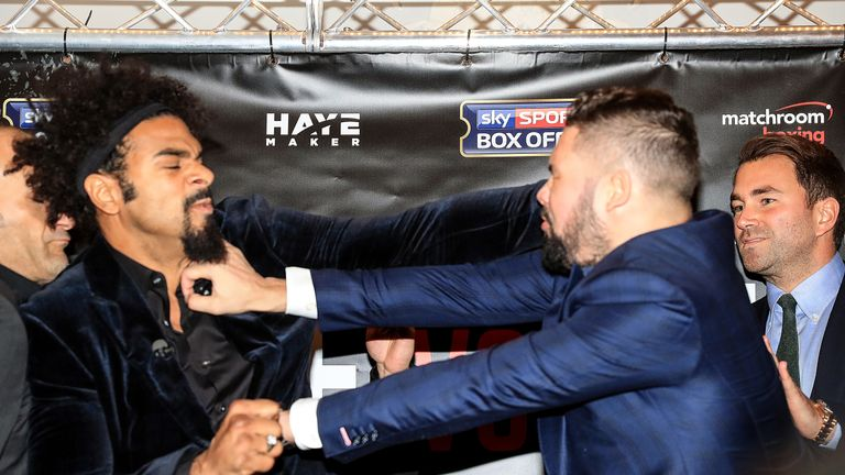 Tempers boiled over between Haye and Bellew at their last press conference