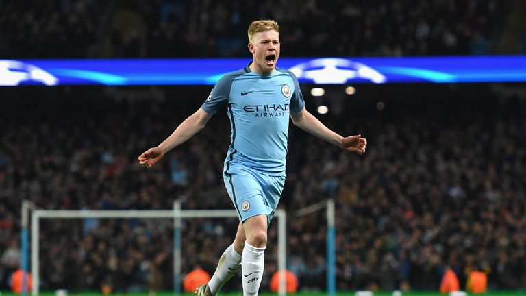 De Bruyne joined Manchester City for £55m in the summer of 2015