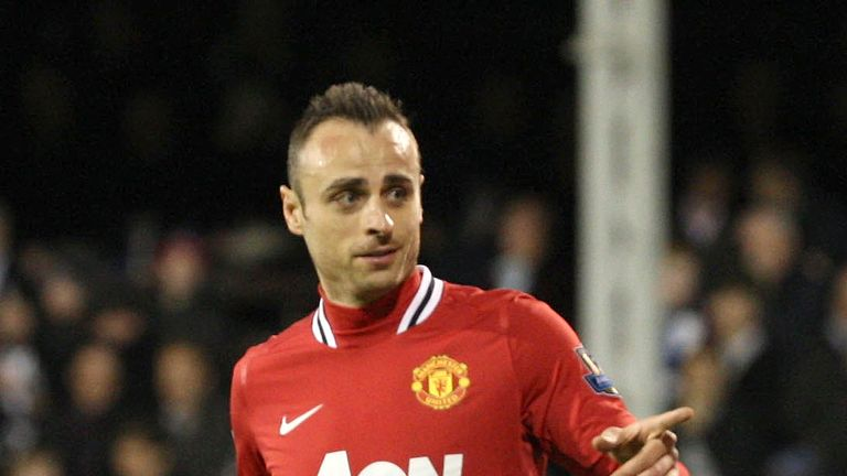 Berbatov spent four seasons with Manchester United