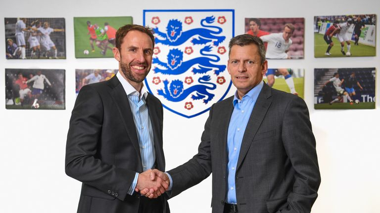 Southgate was announced as new England manager at St George's Park