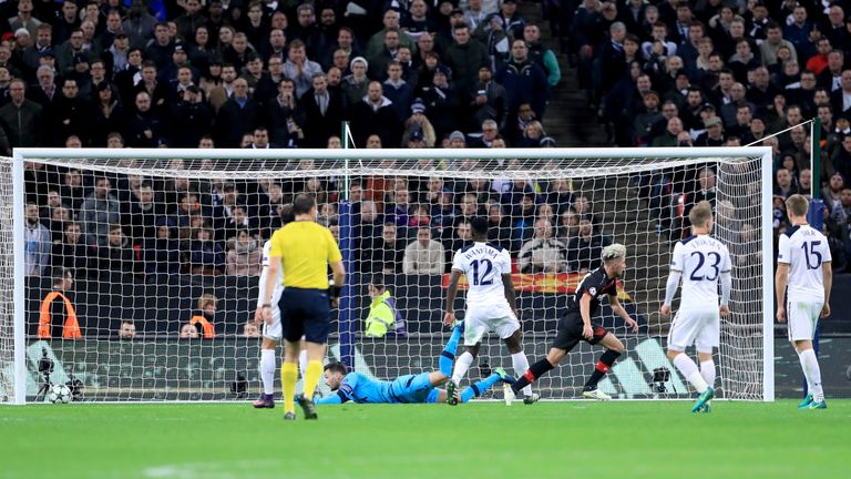Bayer Leverkusen beat Tottenham at Wembley in the group stage of last season's Champions League