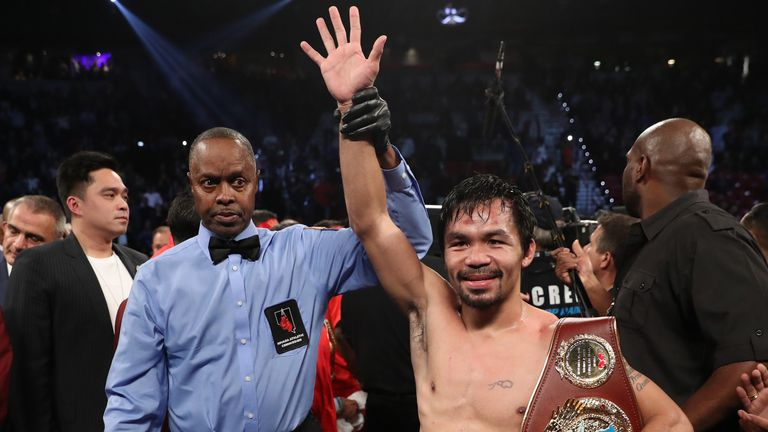 Pacquiao made victorious return to boxing against Jessie Vargas in Novemeber 2016 following a brief retirement