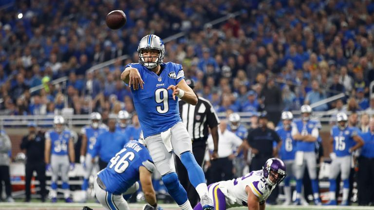 Matthew Stafford's seven wins have all come from losing positions in the fourth quarter