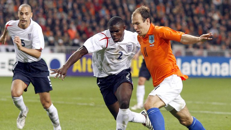 Micah Richards was one of England's top performers on his debut against Netherlands