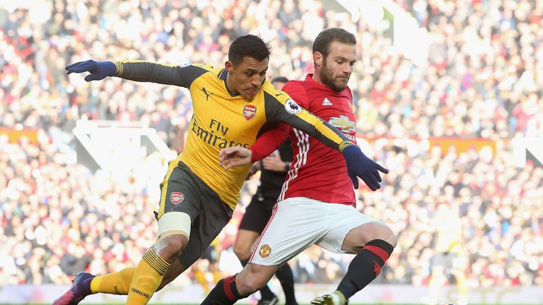 Juan Mata's Manchester United face Alexis Sanchez's Arsenal on the first weekend of May