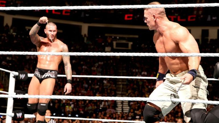 Randy Orton handcuffed Cena to the ropes in 2013