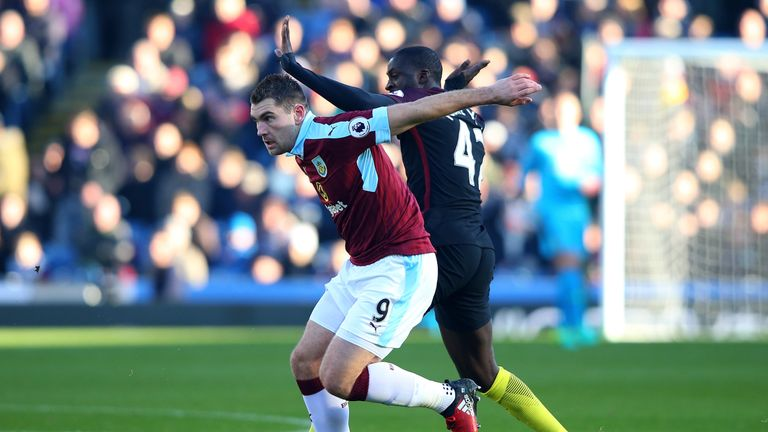 Sam Vokes tussles with Yaya Toure