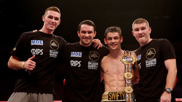 Callum Smith (far left) is backing his brother to pull off a career-best win