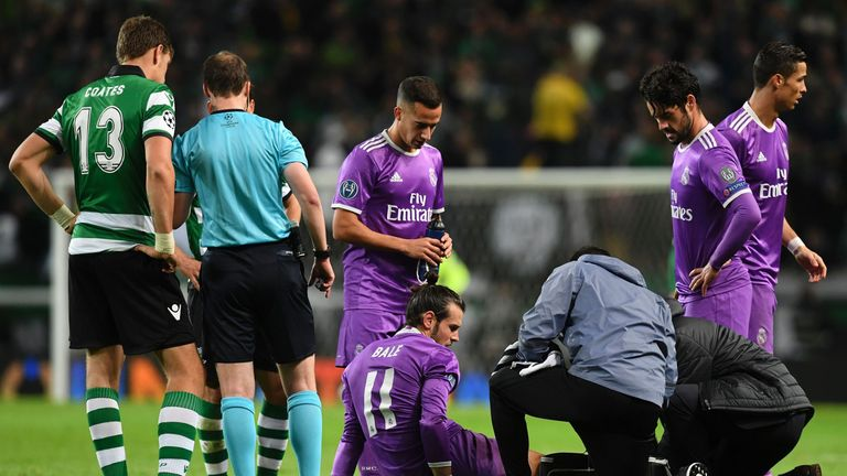 Gareth Bale has been sidelined with an ankle injury since November