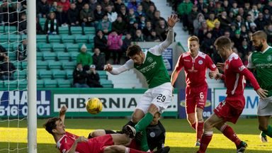 Brian Graham nets the opener at Easter Road