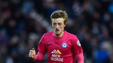 Chris Forrester was shown a red card