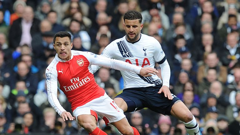 LONDON, ENGLAND - MARCH 6: of Arsenal during the Barclays Premier League match between Tottenham Hotspur and Arsenal at W