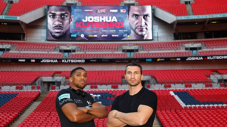 Anthony Joshua faces Wladimir Klitschko on April 29, live on Sky Sports Box Office