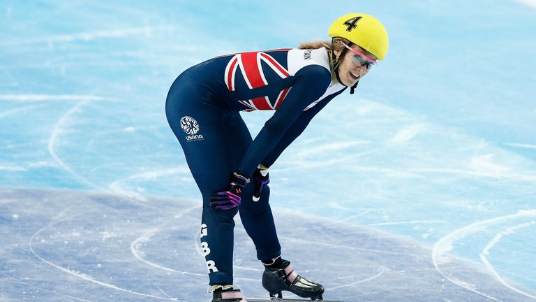 Elise Christie became a World and European champion as a Sky Sports Scholar