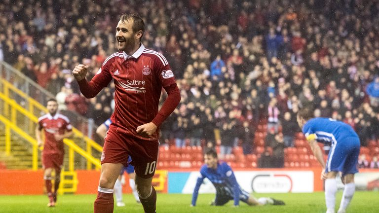 Aberdeen's Niall McGinn is expected to feature at the national stadium