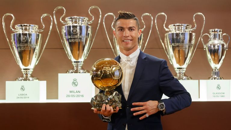 Cristiano Ronaldo wins Ballon d'Or world's skysports-cristiano-