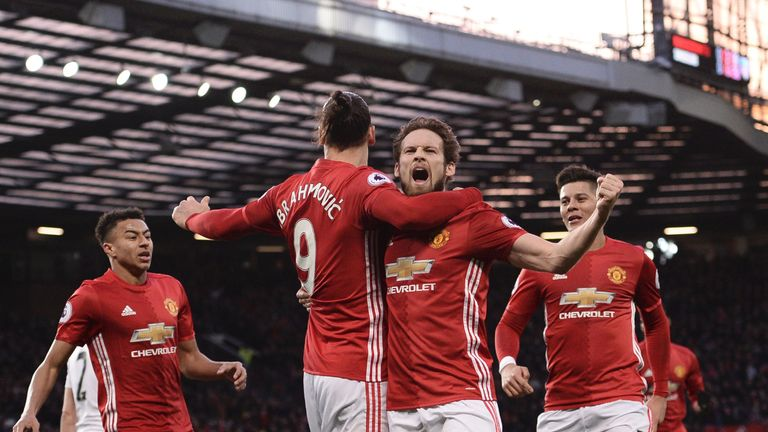 Daley Blind celebrates putting United ahead