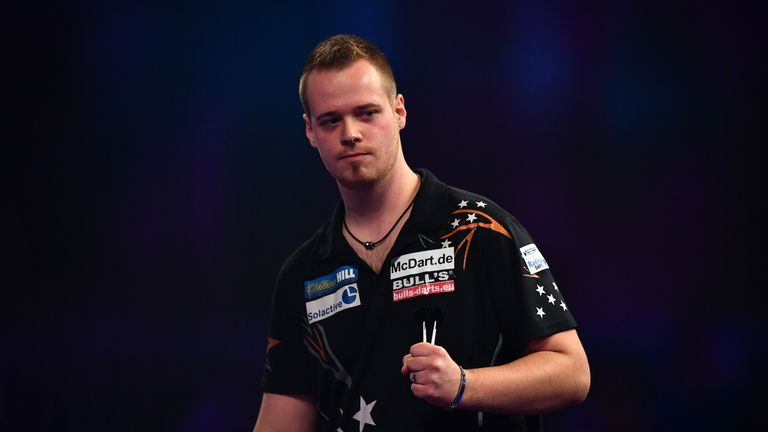 Germany's Max Hopp is one of darts rising stars