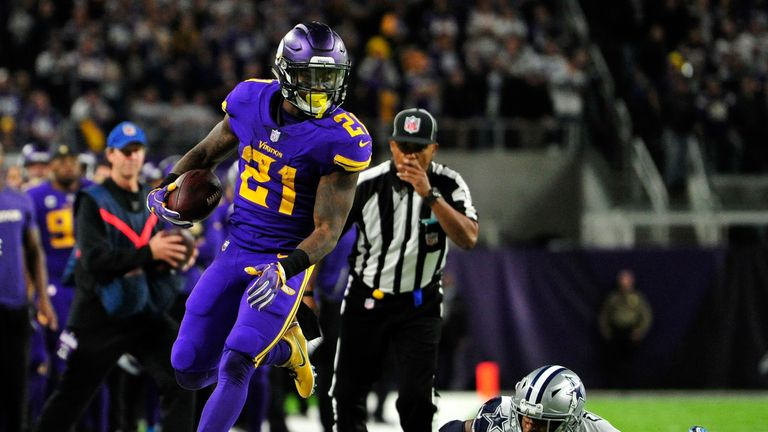 Jerick McKinnon handed the Vikings an opportunity to tie with a three yard score, but Bradford couldn't complete the two yard conversion