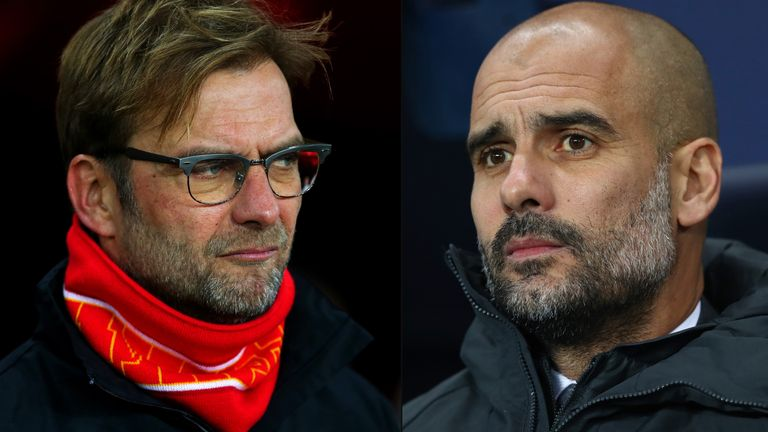 Jurgen Klopp takes his Liverpool team to Pep Guardiola's Man City on Sunday