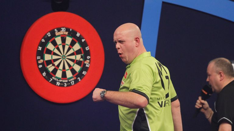 Michael van Gerwen is the defending Premier League champion