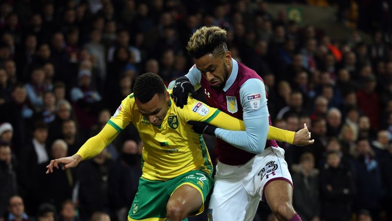 Aston Villa Jordan Amavi made 36 appearances in the Sky Bet Championship last term