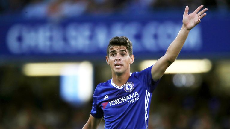 Oscar left Chelsea, who are currently leading the Premier League