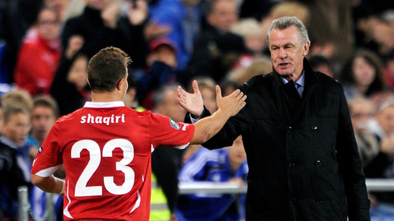 Hitzfeld worked with Shaqiri in his time as manager of the Switzerland national side