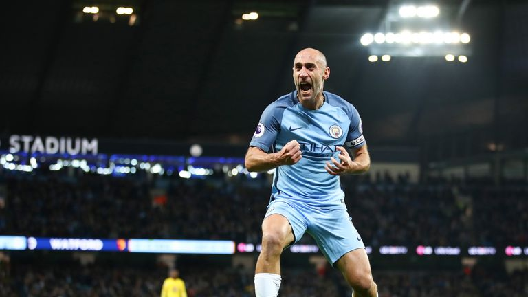Veteran right-back Pablo Zabaleta will leave Man City at the end of the season