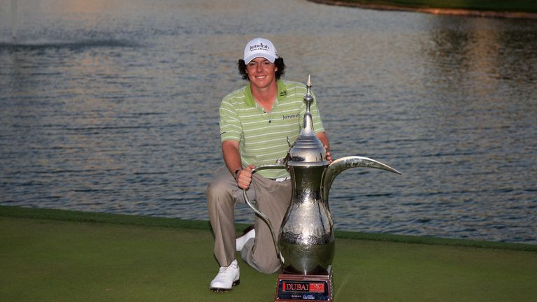 McIlroy earned his first professional victory at the Dubai Desert Classic in 2009