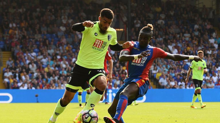 Souare in action for Crystal Palace against Bournemouth
