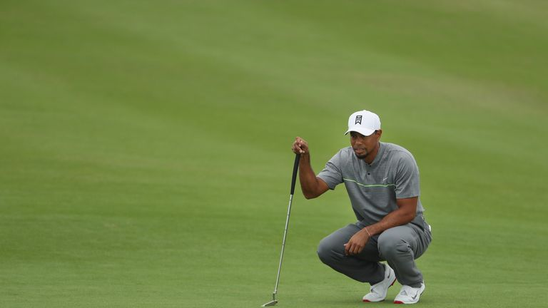 Woods looked in great touch with the putter at Albany