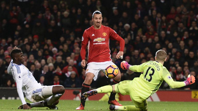 Zlatan Ibrahimovic had doubled United's lead