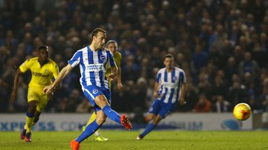 Glenn Murray converts Brighton's opener from the penalty spot