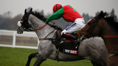 Sam Twiston-Davies riding Capitaine to win the Sky Bet Supreme Trial Novices' Hurdle at Ascot