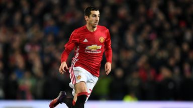 Henrik Mkhitaryan has started three of Manchester United's last four games