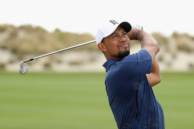 A new look Tiger Woods surfaced at the Hero World Challenge