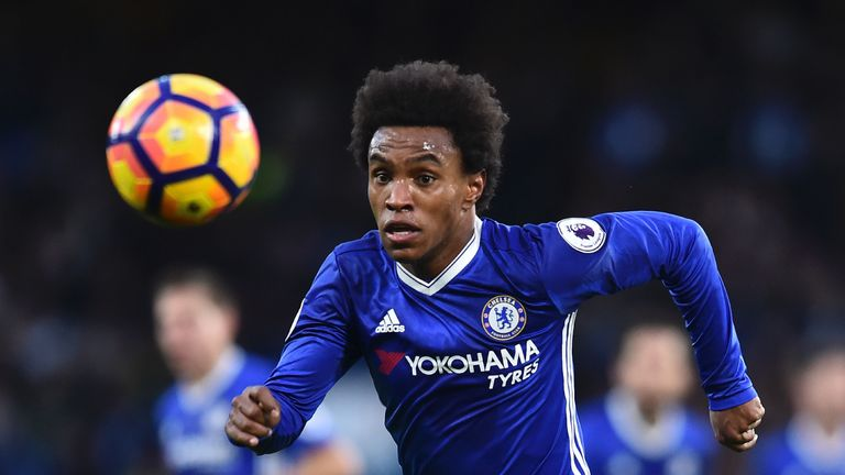 Willian in action against Bournemouth at Stamford Bridge on Boxing Day