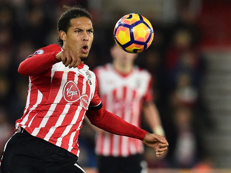 Going nowhere? Van Dijk pictured in Man City shirt