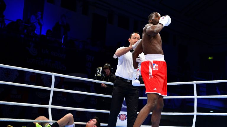 Okolie has demonstrated his punch power in the amateur ranks