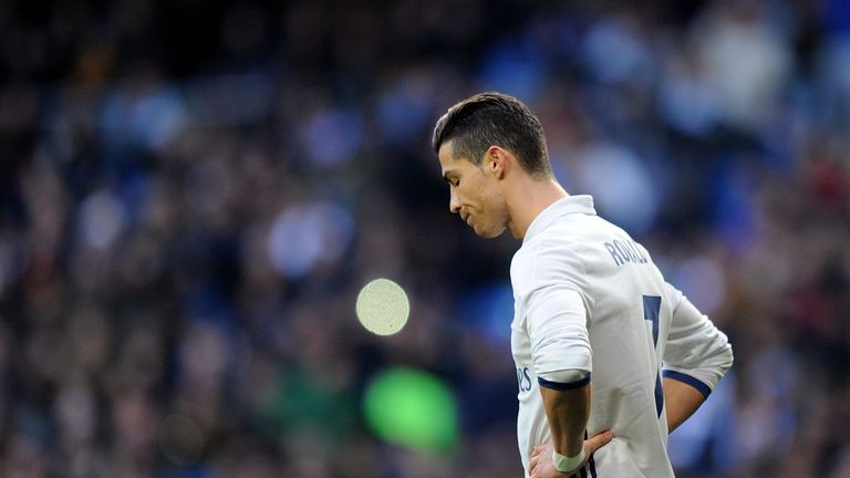 Ronaldo was whistled by parts of the Bernabeu crowd on Saturday